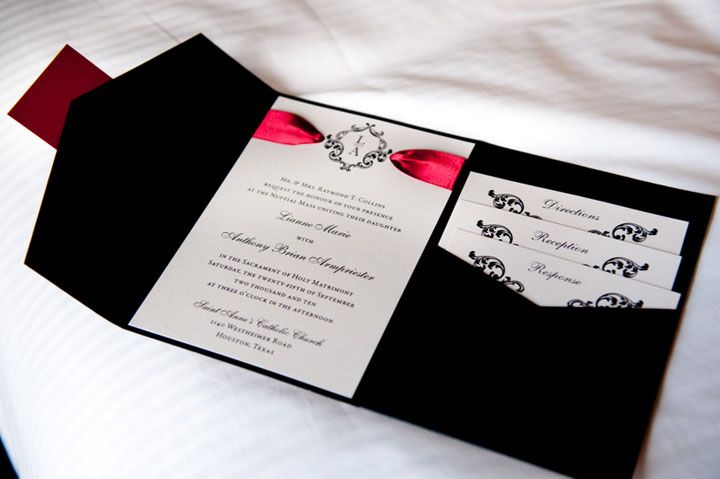 White And Red Wedding Invitations: I Was Helping A Friend Search For Wedding Invitations. Her