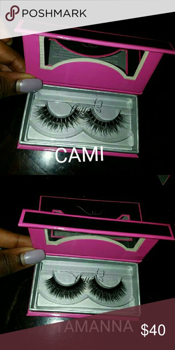 Mink Flutter Lashes 100% AUTHENTIC MINK lashes from FLUTTER LASHES. Wish I could go lower but their fee is high these are 35$ each very nice lashes. Flutter Lashes Makeup False Eyelashes