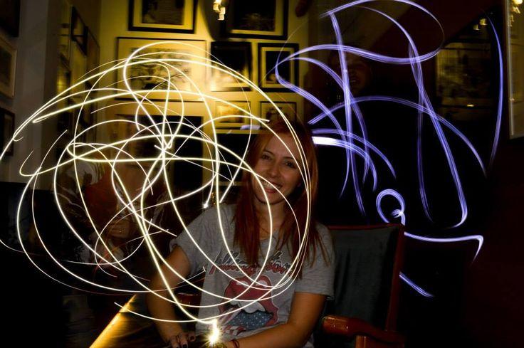 Light painting technique