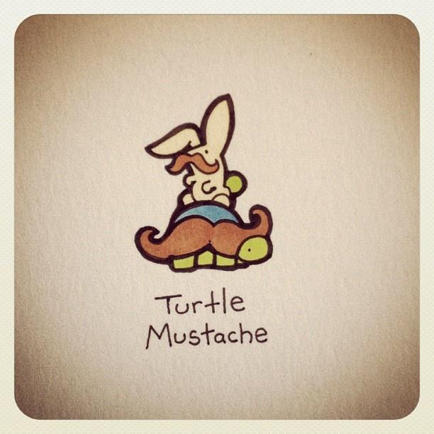 Turtle Mustache #turtleadayjune - @turtlewayne- #webstagram