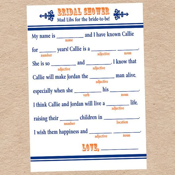 All About Diy Bridal Shower Mad Libs The Mcbaileys Kidskunstinfo