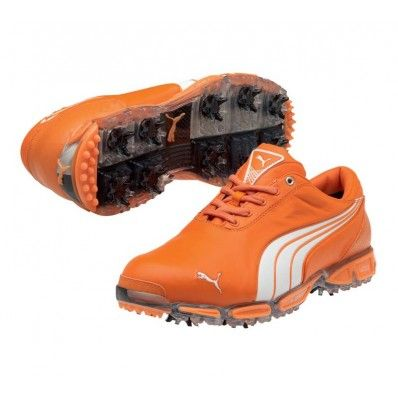 302e1a79377 Puma Super Cell Fusion Ice LE Golf Shoes - Mens Vibrant Orange White - The  Limited Edition shoes worn by Rickie Fowler