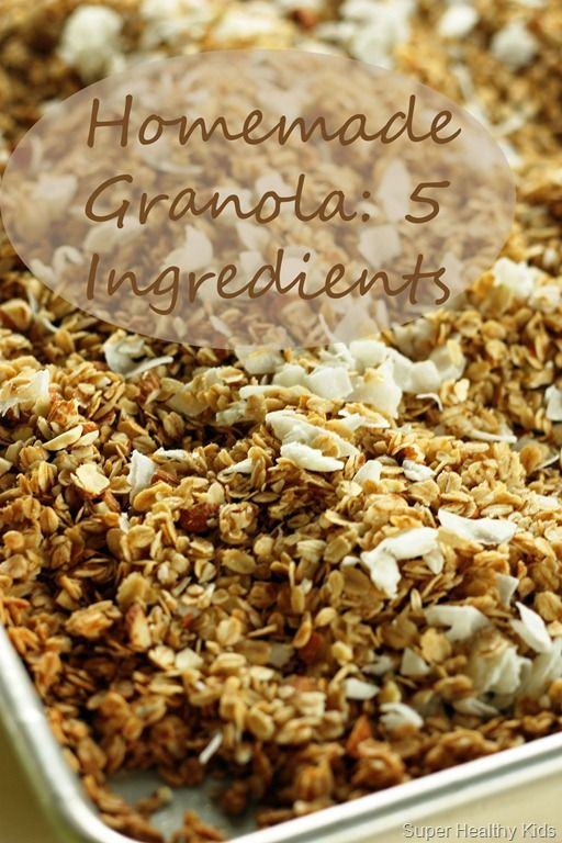 Homemade Granola - Seriously the easiest granola to make.  Super easy, healthy and crunchy!  What more can you ask for?