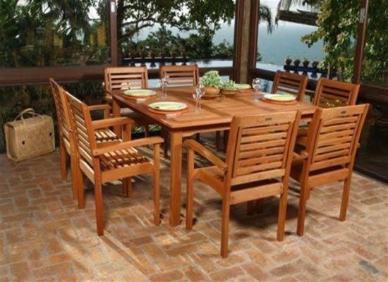 amazonia eucalyptus 9piece patio dining set by atlantic