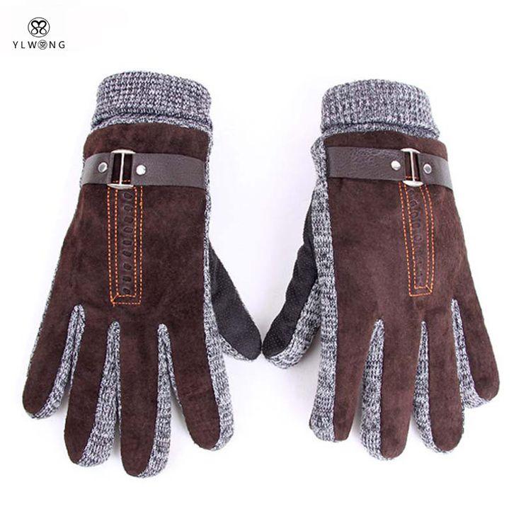Купить товарСтильные Мужские Зимние Перчатки Guantes Черный Кофе Хит…
