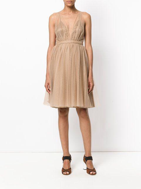 Nº21 многослойное платье с вырезом