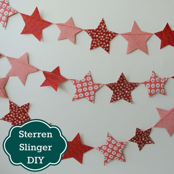 Sew Natural Blog: DIY Tutorial Fabric Star Garland