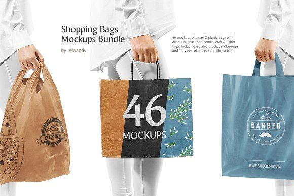 Download Shopping Bags Mockups Bundle Bag Mockup Design Mockup Free Free Packaging Mockup