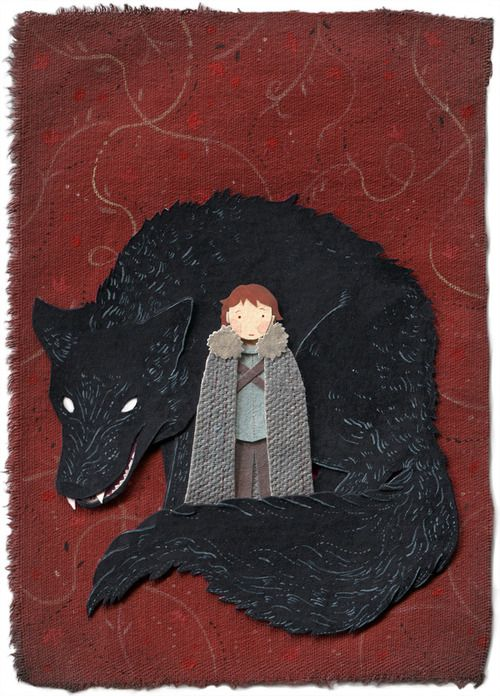 mikisato illustration:  Rickon and Shaggydog from George R.R Martin's A Song of Ice and Fire