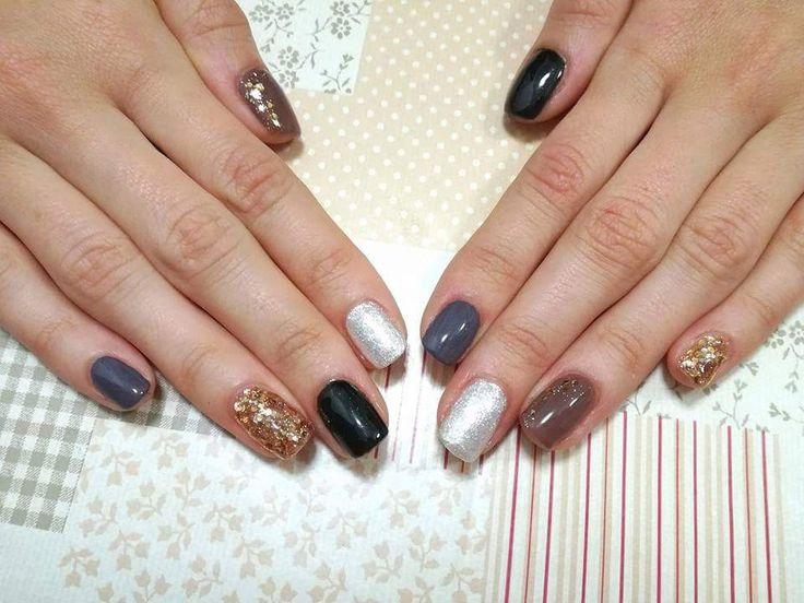 Refill su unghia naturale 💎 mix colori invernali 🍂