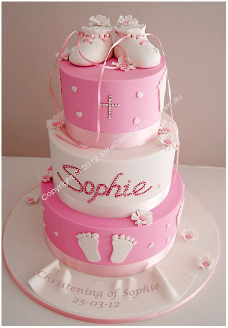 Baptism Cake Design For Baby Girl : 141 best images about Christening Cakes on Pinterest ...