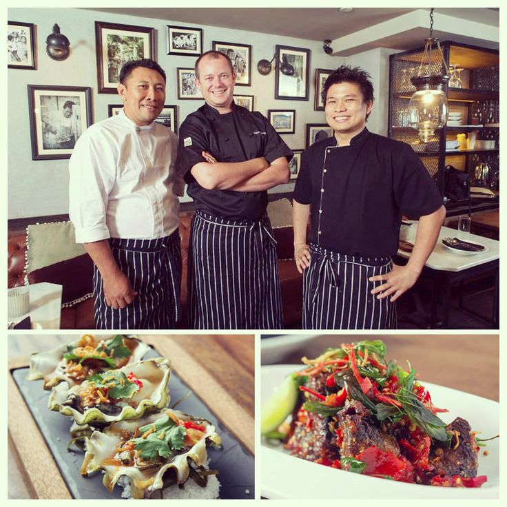 Chef Budiana, Will Meyrick and Palm Amatawet are busy chopping and cooking at Mama San Hong Kong's kitchen