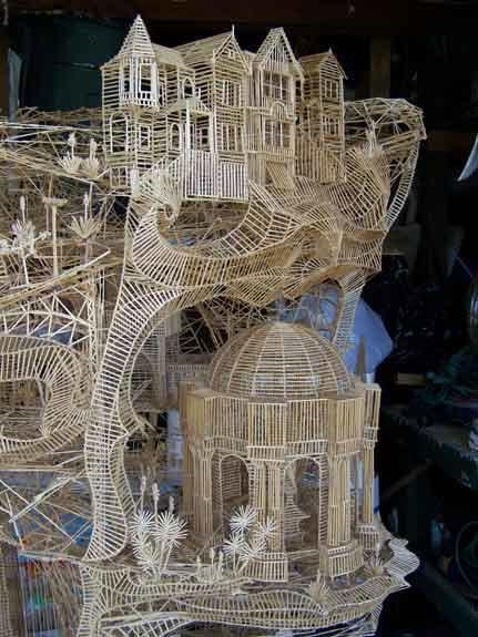 Scott Weaver toothpick sculpture  http://www.rollingthroughthebay.com/