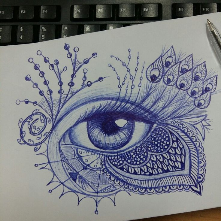 Eye pen drawing