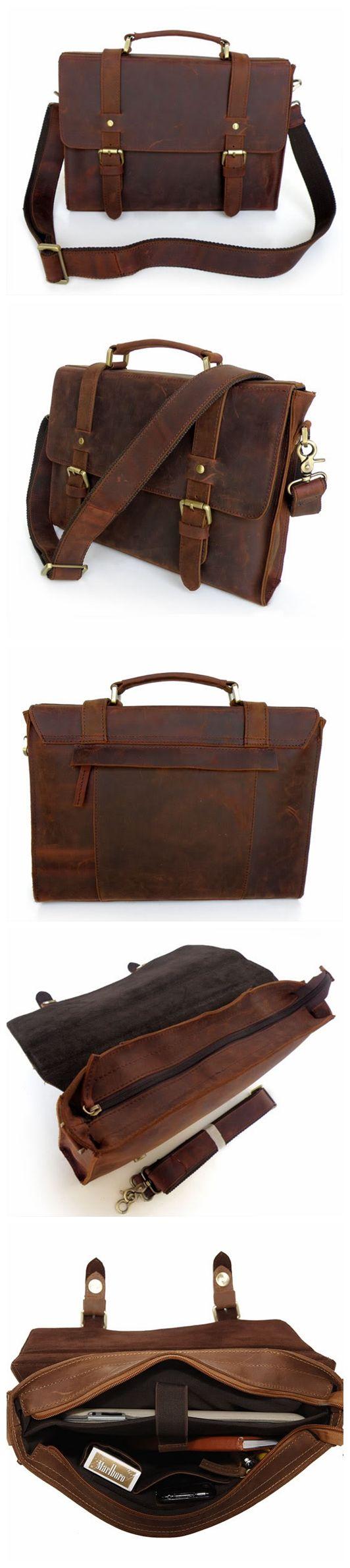 Handmade Vintage Leather Briefcase/Backpack, Men Messenger Bag, Laptop Bag