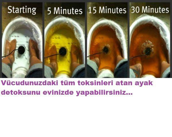 Ayak detoksu ile toksinleri atın.Evinizde yapacağınız ayak detoksu ile tüm vücuttaki toksinleri atabiceğinizi biliyormusunuz