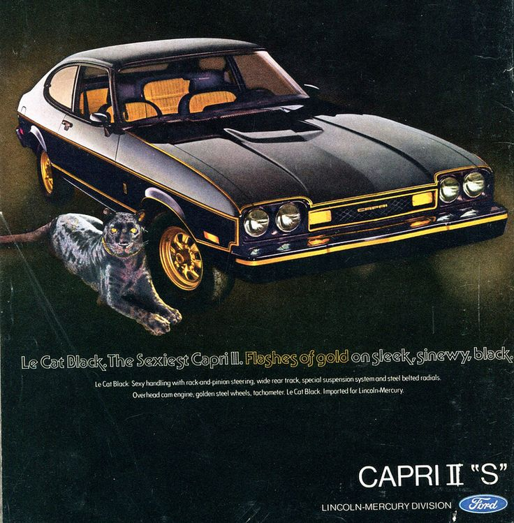 1976 Ford Mercury Capri II S Advertising Road & Track April 1976 | Flickr - Photo Sharing!