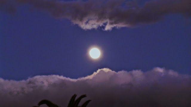 Desde las Islas Canarias  ..Fotografias  : La Luna en Maspalomas Gran Canaria