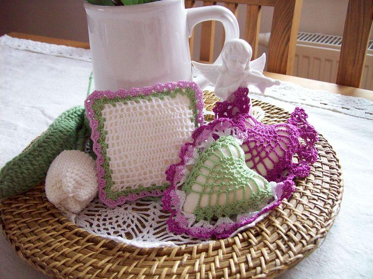 lelisa: Kombinace barev zelená a fialová