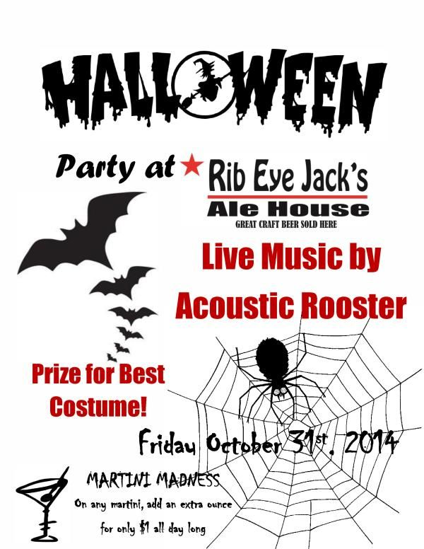 And speaking (spooking?) of @RibEye_Stsville tomorrow night's Hallowe'en Party is features Acoustic Rooster! #Streetsville #Mississauga
