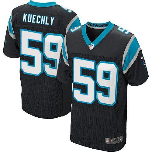 Youth Nike NFL Carolina Panthers #59 Luke Kuechly Elite Team Color Black Jersey $79.99