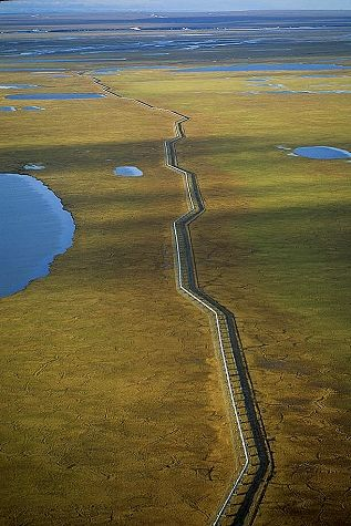 Alyeska Pipeline    North Slope, Alaska, AK  United States  6/25/1993    Image #15813 The only company on your way to Arctic circle