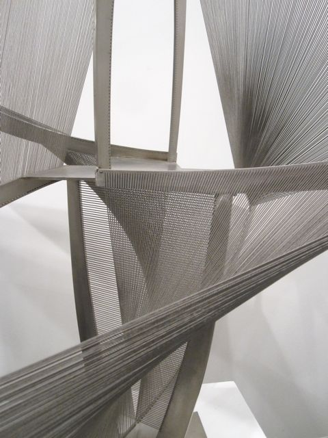 NAUM GABO, TORSION VARIATION DETIAL 1975: from mondoblogo and art basel.