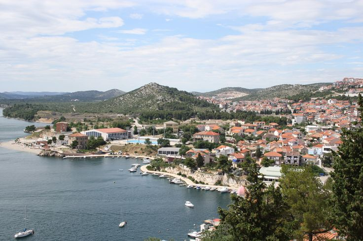 Sibenik, Croatia - view of the town from St.Nicholas Fortress