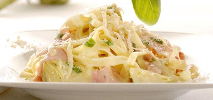 Spaghettini carbonara version santé Recettes | Ricardo