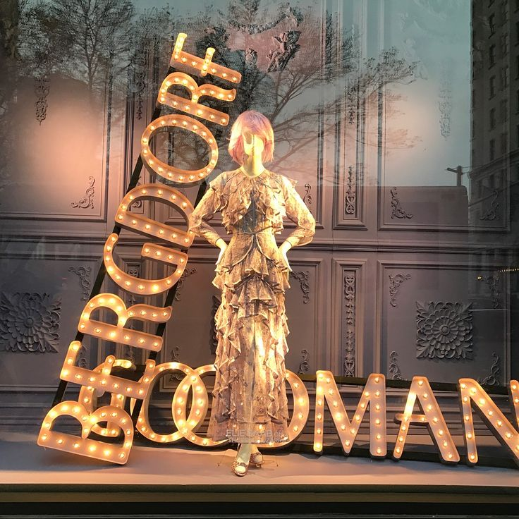 "BERGDORF GOODMAN, 5th Avenue, New york, ""She lit up the room wherever she go"", for Ellie Saab, pinned by Ton van der Veer"