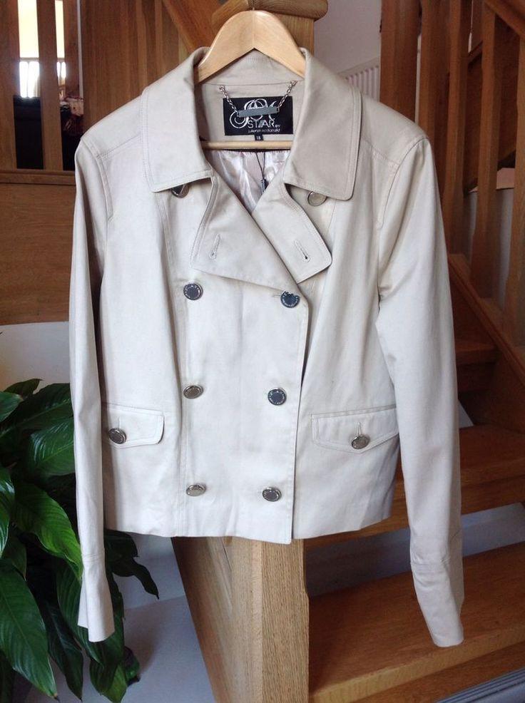 Jacket Ladies 18 Julien Macdonald Debenhams Beige Trench RRP £75 #Debenhams #TrenchJacket