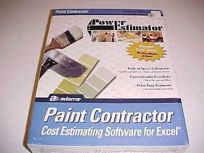 Adams Power Estimator Paint Contractor Cost Estimator Paint Software Excel New