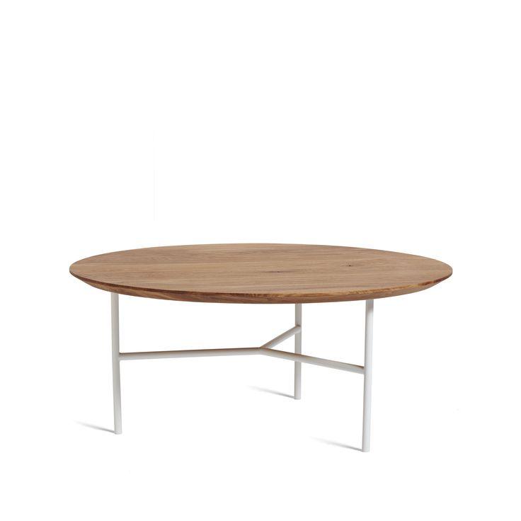Tribeca soffbord - Tribeca soffbord - ek olja, vita ben, 80 ø cm