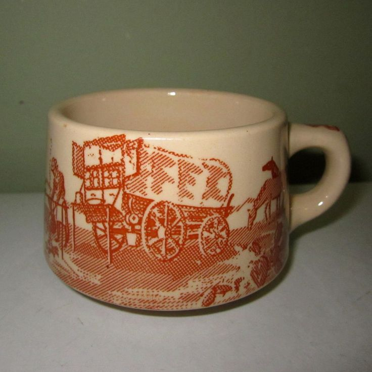 Chuck Wagon Coffee Cup Mug Wallace China Coffee