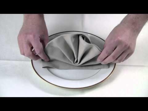 AVA servetten vouwen: de ster - YouTube