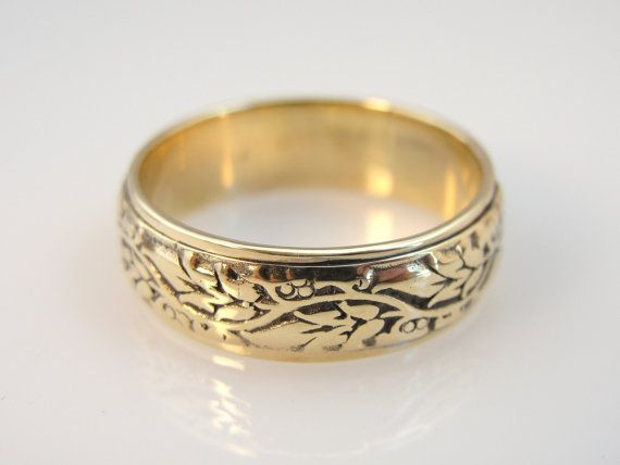 leaf patterend wedding band unisex vintage rggd1028d by msjewelers 74500 one of my all time