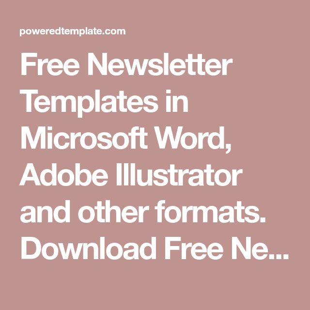 Cele mai bune 25+ de idei despre Newsletter templates word pe - newsletter template for word