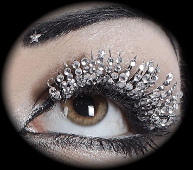 Swarovski Lashes: Make Up, Eye Makeup, Eye Lashes, Beautiful, Diamonds Lashes, Swarovski Crystals, Diamonds Eyelashes, Eyes, Bling Bling