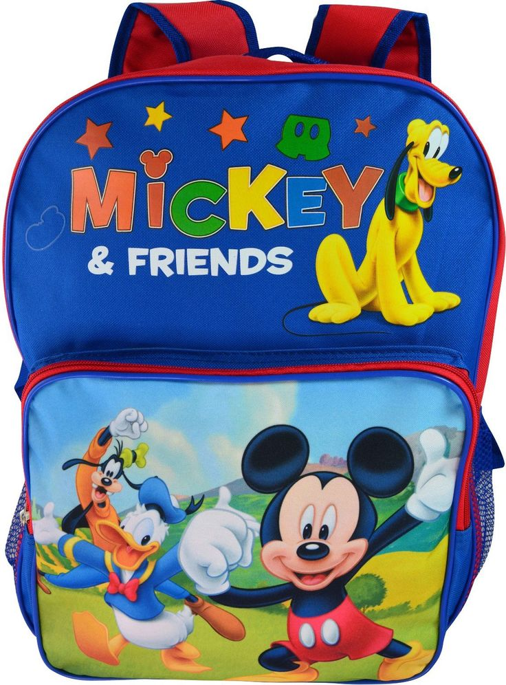 """Wholesale Backpacks Mickey Mouse 16"""" Backpack - 48 Units"""
