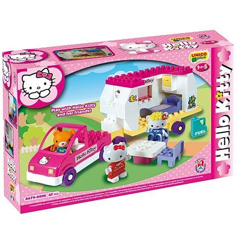 Vontatós lakóautó------Unico Hello Kitty Lakókocsi építőkocka szett 47db-os rendelés olcsó Unico Hello Kitty Lakókocsi építőkocka szett 47db-os vásárlás - árak