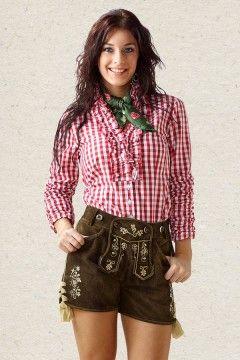 Lederhosen for her. Western style.