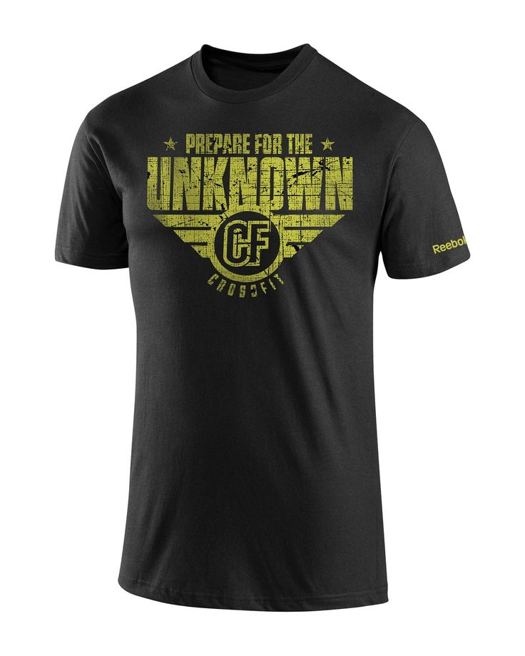 $28.00 CrossFit HQ Store- Prepare For The Unknown Tee - Short Sleeve Tees - Men Buy Authentic CrossFit T-Shirts, CrossFit Gear, Accessories and Clothing
