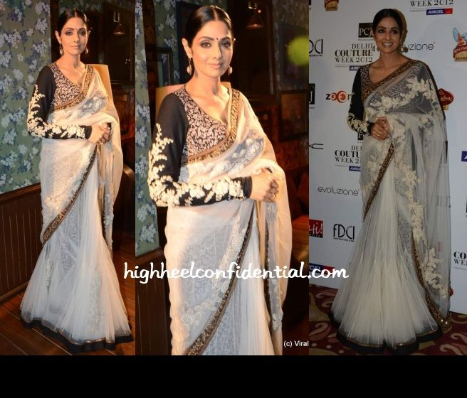 Sridevi and Sabyasachi ... a combination you just can't get wrong. #saree #style