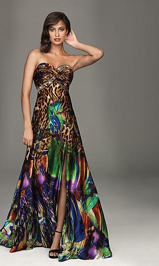animal print prom dresses cheap