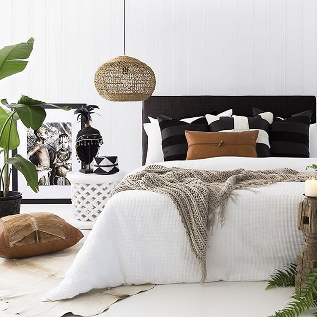 Stunning New Cushion Collection My Favourites Would Be Beautiful Tan  Leather With Bone Details And Hide · Tropical Bedroom DecorBlack ...