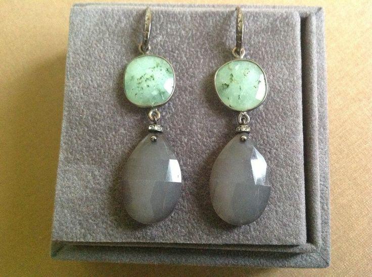 Orecchini argento brunito con pietre dure, by GIOBijoux, 20,00€ su misshobby.com