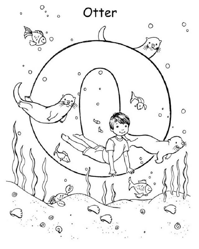 Yoga Pose Like Otter Letter O Coloring Pages For Little Angels Yoga For Kids Childrens Yoga Yoga Coloring Book