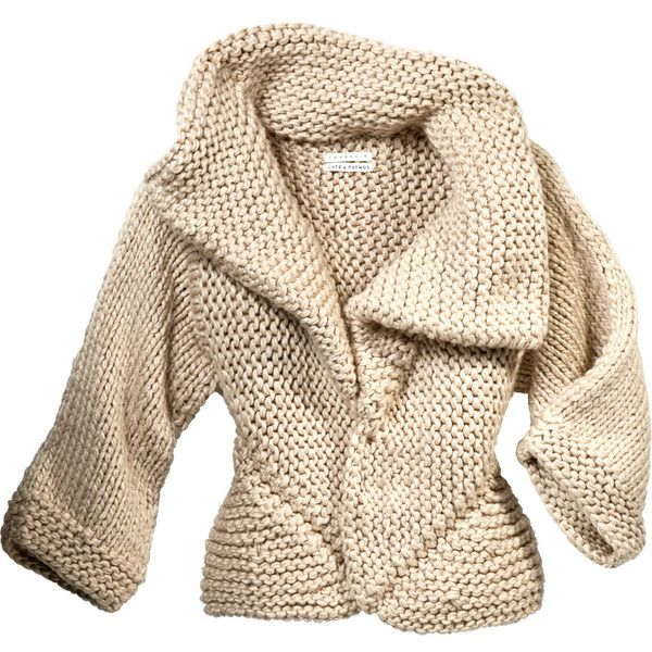 LUTZ & PATMOS Handknit Mitered Cardigan found on Polyvore