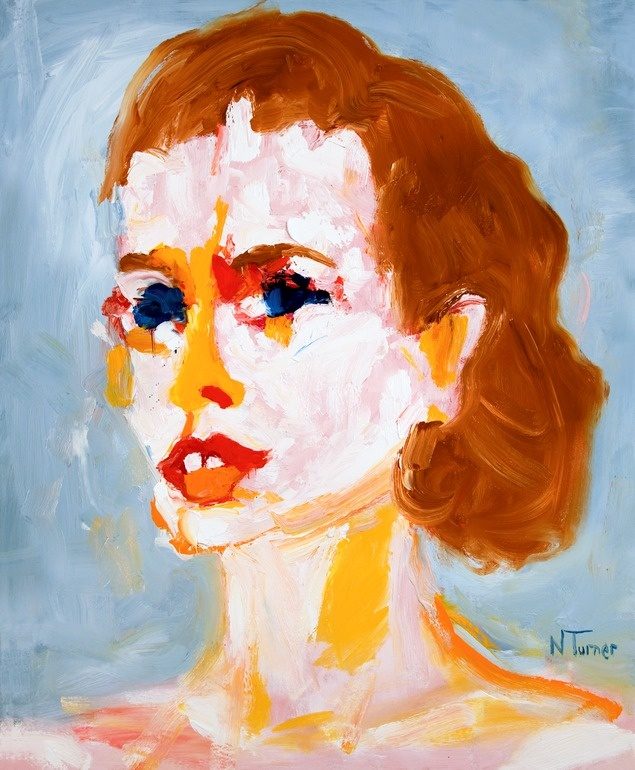 """Neal Turner; Oil, 2011, Painting """"Portrait de Grace Kelly (Portrait of Grace Kelly)"""""""