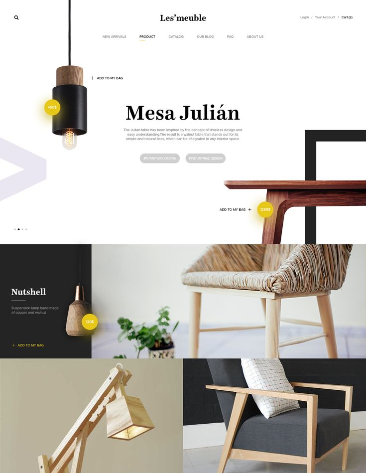 Furniture Website Screenshot